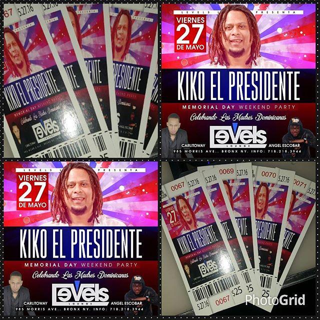 Kiko el Presidente en Levels Lounge