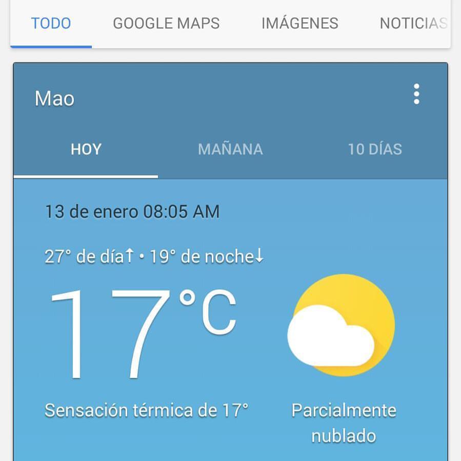 temperatura Mao