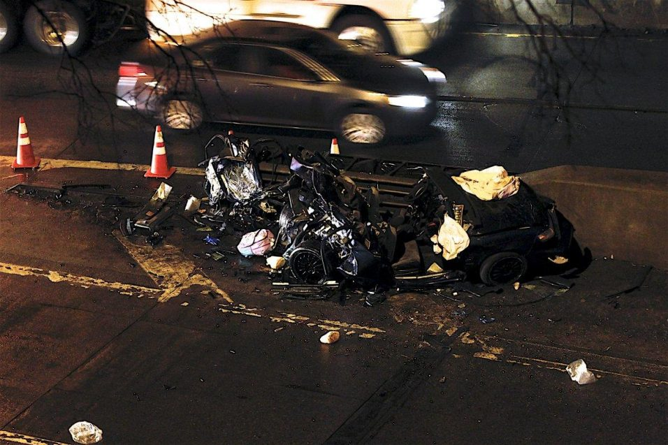 crash on George Washington Bridge