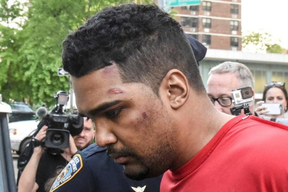 richard-rojas-escorted-processed-connection-speeding-vehicle-struck-pedestrians-sidewalk-times-square-new-york-city.