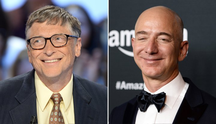 Image result for bill gates and jeff bezos
